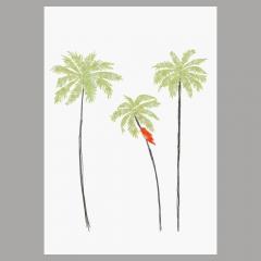 Doppelkarte Palmen