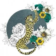Doppelkarte Leopard