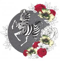Doppelkarte Zebra
