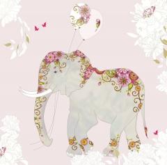 Glücwunschkarte Rosa Elefant