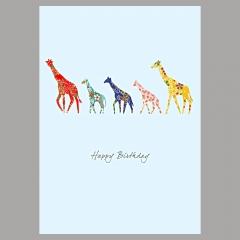 Doppelkarte Giraffen