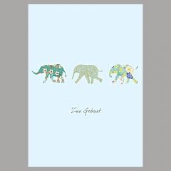 Doppelkarte Elefant/Junge