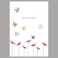 Doppelkarte Danke/Schmetterlinge