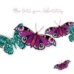 Grusskarte Schmetterlinge
