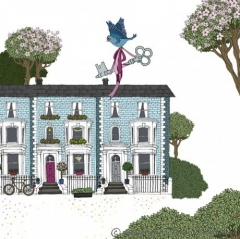 Grusskarte Häuser