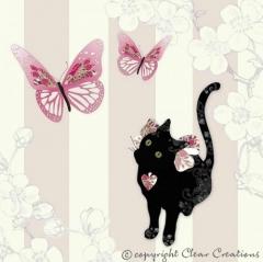 Grusskarte Katze