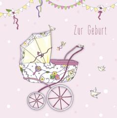 Glückwunschkarte Geburt Mädchen
