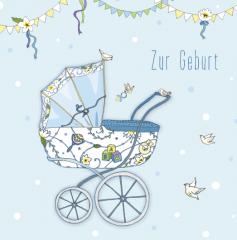 Glückwunschkarte Geburt Junge